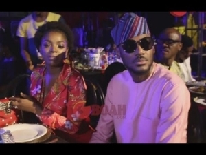 Video: Check-Out 2face and Annie Idibia As They Both Present, Looking Cute At Omotola